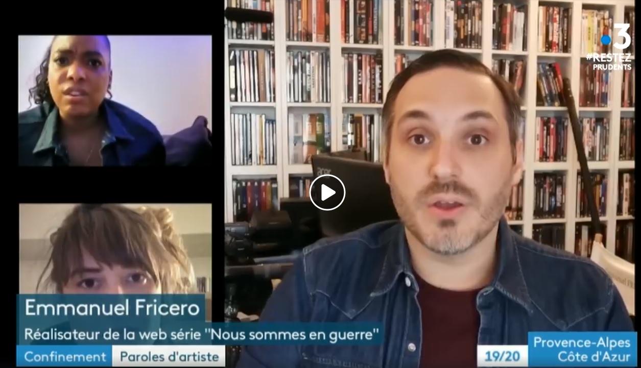 """Reportage de France 3 sur notre mini-série """"Nous Sommes En Guerre"""""""