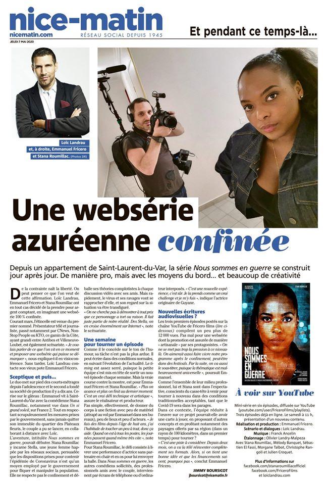 Une websérie azuréenne confinée