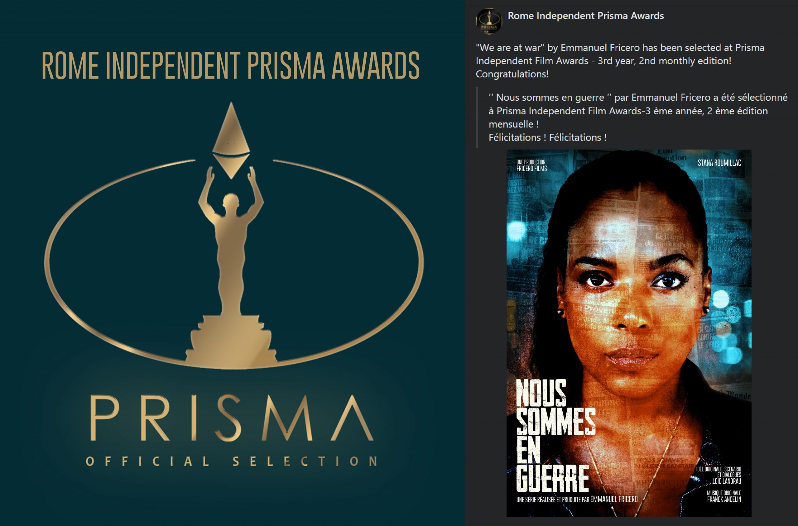 Sélection Officielle au Rome Independent Prisma Awards
