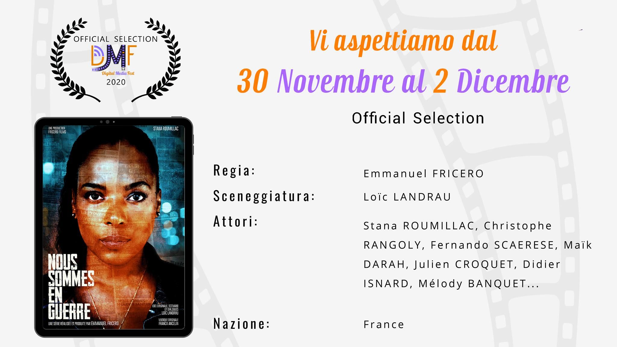 Sélection Officielle au 2e Digital Media Fest de Rome