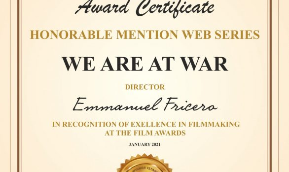4ème récompense internationale avec la Mention d'Honneur de la Web-Série à l'Istanbul Film Awards
