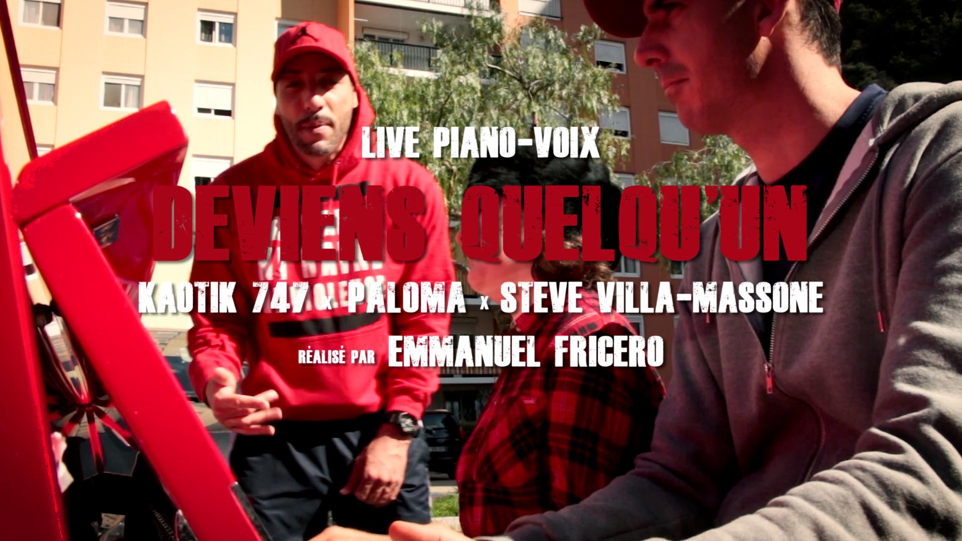 Live Piano-Voix / Kaotik 747 x Paloma x Steve Villa-Massone