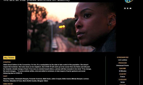 Fiche de présentation de la série au Pan African Film & Arts Festival de Los Angeles