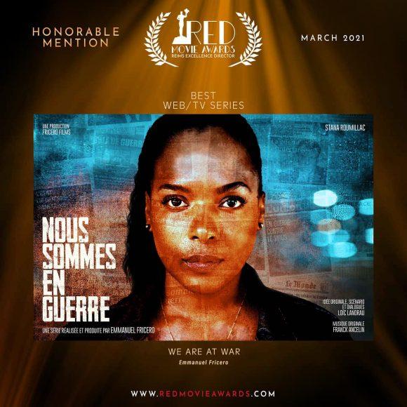Mention d'Honneur de la Meilleure Web-Série au RED Movie Awards de Reims