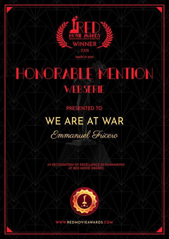 5e récompense pour notre Série au RED MOVIE AWARDS de Reims