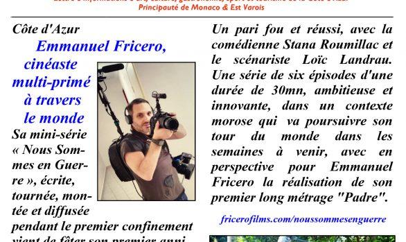 Cimaises d'Azur : Emmanuel Fricero, cinéaste multi-primé à travers le monde