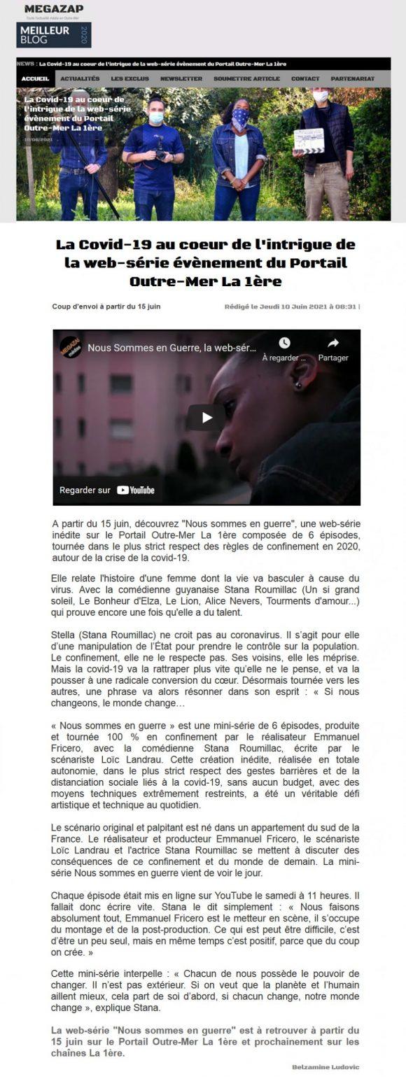 La Covid-19 au cœur de l'intrigue de la web-série évènement du Portail Outre-Mer La 1ère